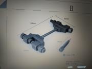 Инструмент за разнитване и занитване на ангренажни вериги и др м