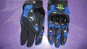 ръкавици за мотор с протектори сини №6