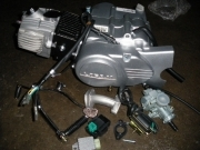 двигател к-т оборудван за мотопед 110сс 4 полуавтоматични скорос